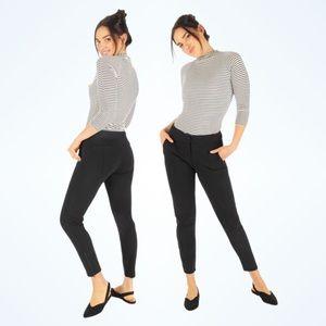 Betabrand Dress Pant Yoga Pants Skinny-Leg Black